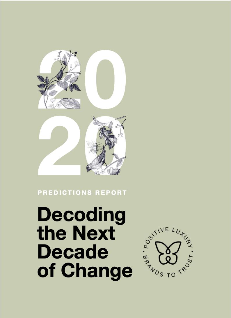 Maria Jose Contreras - Predictions Report 2020 - Positive Luxury