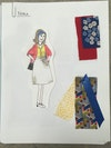 A Doll's House: model - Nora's costume with fabric samples