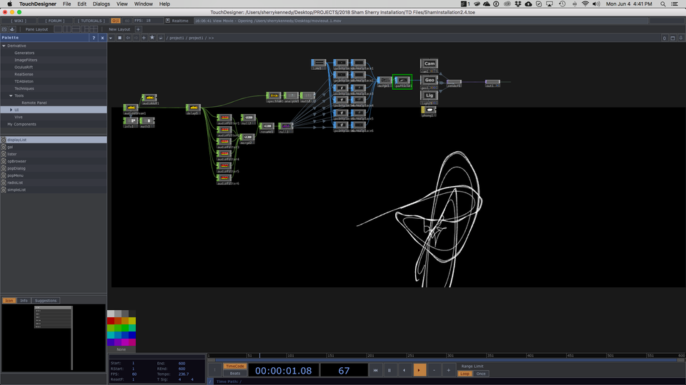 NAISA Audio/Visual Project Submission - Screen Shot of Chaos w.i.p.