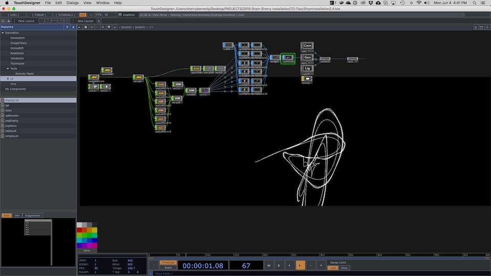 NAISA Audio/Visual Project Submission - Screen Shot of Chaos w.i.p.