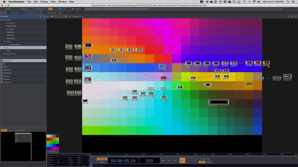 NAISA Audio/Visual Project Submission - Screen Shot of Desert Colour Tests w.i.p.