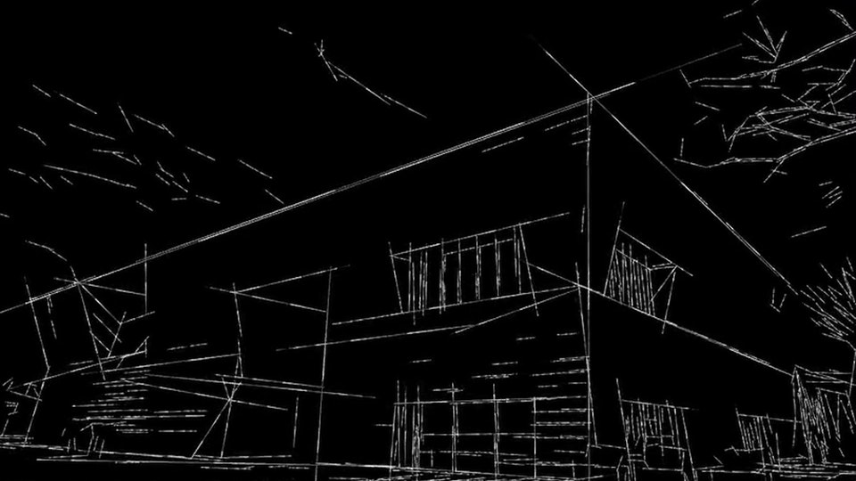 Aga Khan Museum: Book & Hat - Aga Khan Museum line animation: this was accomplished using images I captured of Toronto's Aga Khan Museum and brought into TouchDesigner with an outline animation effect for a study on line, shape and form.
