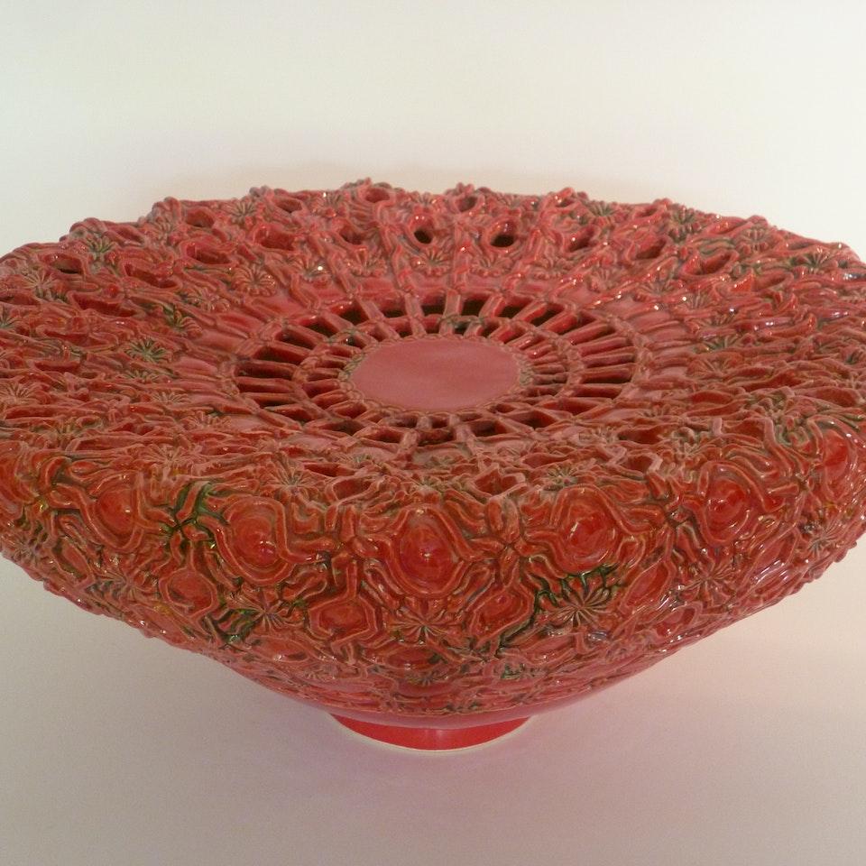 Keramiek Van Campen - Andrea Boerman - bloemen maroc rood#2