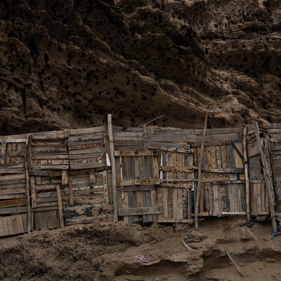 Violaine Chapallaz - ©Violaine Chapallaz Vissershut serie Marokko - Onderdak#2