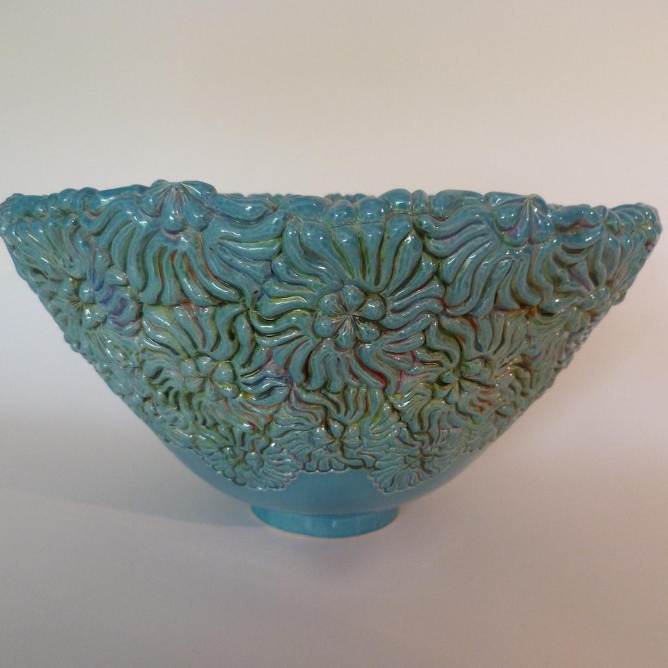 Keramiek Van Campen - Andrea Boerman - bloemen turqoise 3