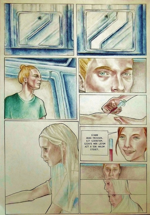 Graphics - Comic page Aquarelle, pencil on paper; 2013