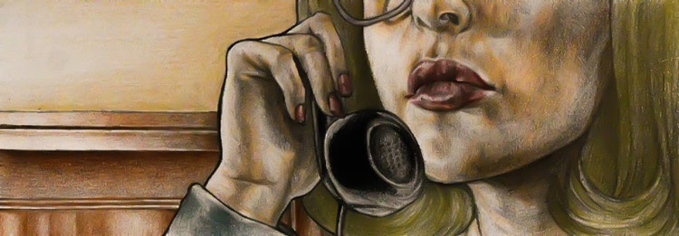 Graphics - Secretary illustration for comic story  Color pencil on paper; 2017