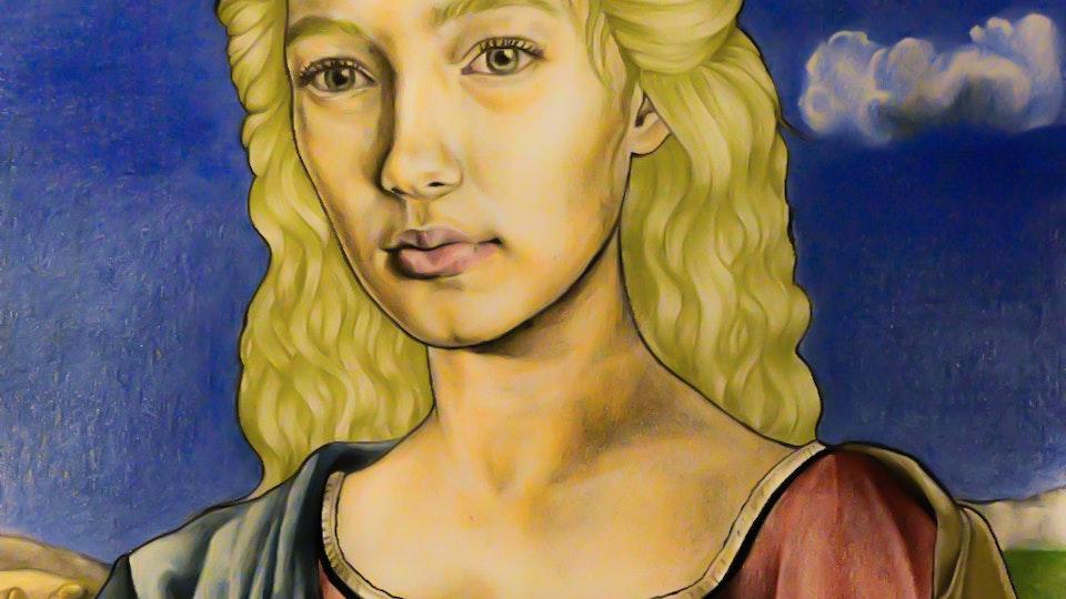 Artworks - Woman portrait Color pencil, graphite on paper; 2017