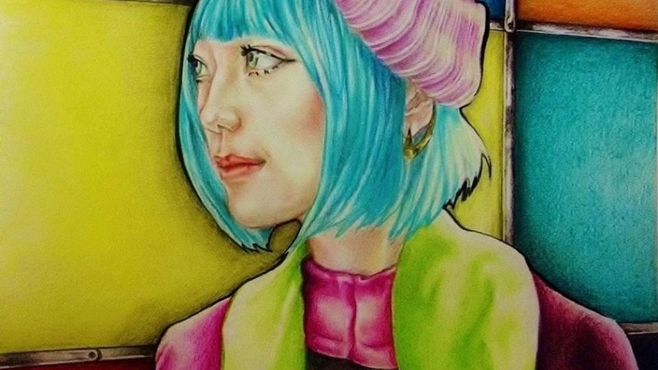 Artworks - Future girl  Mixed technique; 2015