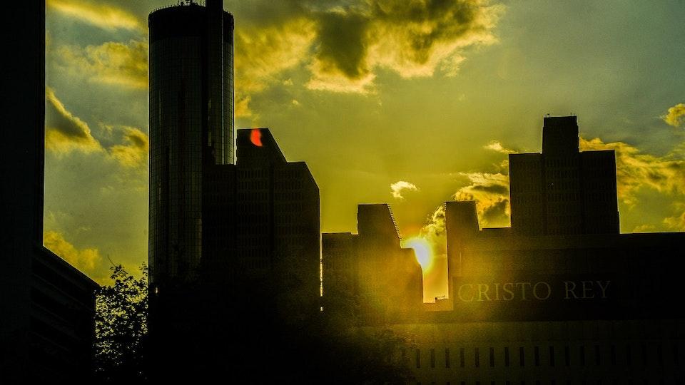 In city