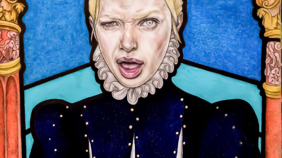 Artworks - Countess Aquarelle pencil, color pencil, graphite on paper; 2018