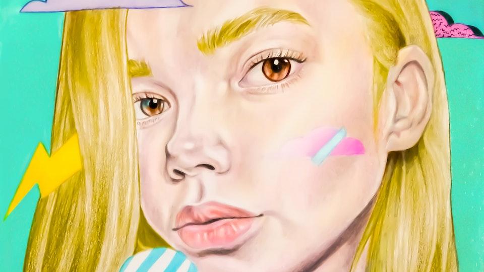 """Artworks - """"Ultragirl""""  Mixed media; 2019"""