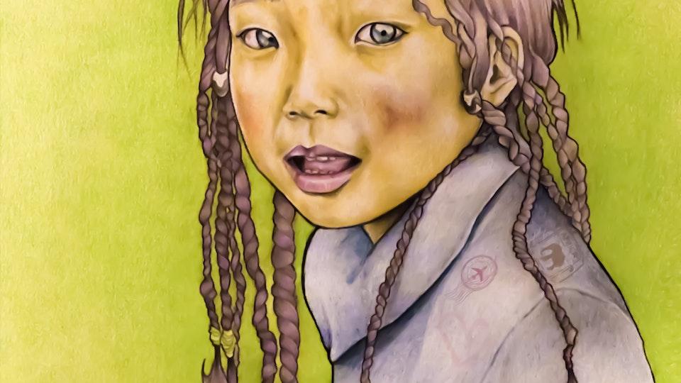 Artworks - Girl portrait Mixed tecnhique; 2017