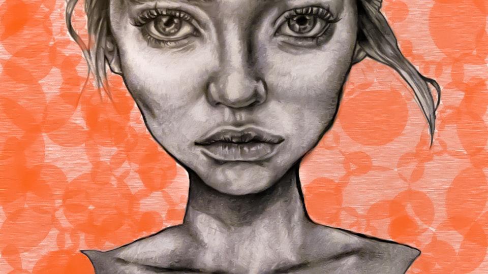 Graphics - Statue girl Mixed media, 2016