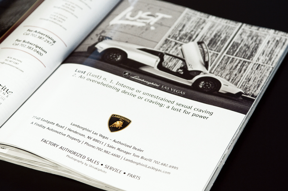 SHIRAKIPHOTO & DESIGN LLC - First Print Publication with Lamborghini!